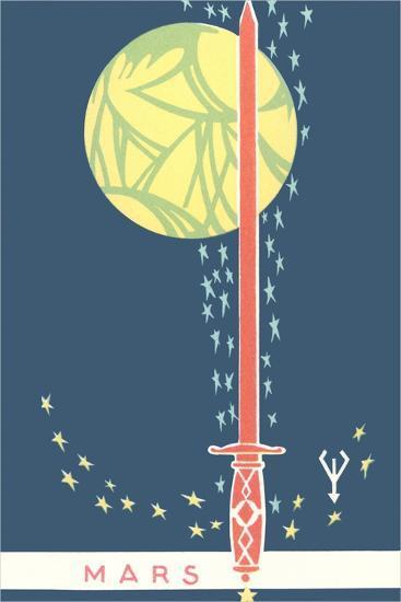 Mars: Planet, Sword and Stars--Giclee Print