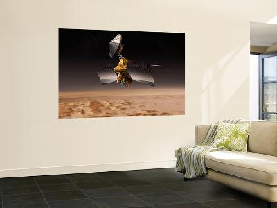 Mars Reconnaissance Orbiter Passes above Planet Mars--Wall Mural