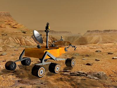 Mars Science Laboratory Travels Near a Canyon on Mars-Stocktrek Images-Photographic Print