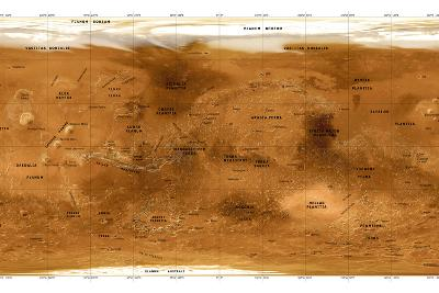 Mars Topographical Map, Satellite Image-Detlev Van Ravenswaay-Photographic Print