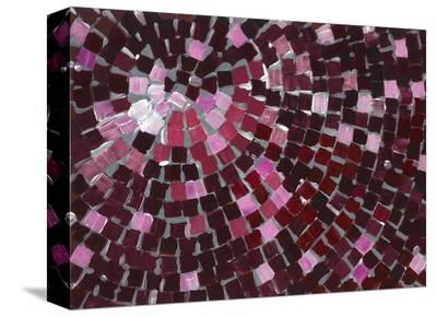 Marsala Radial-Stacey Wolf-Stretched Canvas Print