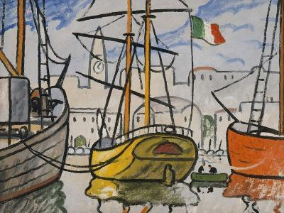 Marseille, bateaux au port, 1920-Louis-Mathieu Verdilhan-Giclee Print