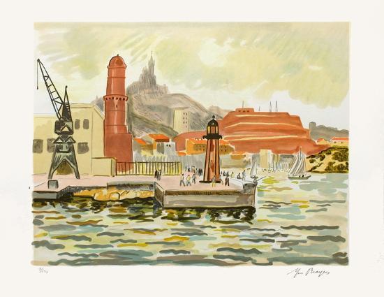 Marseille : Fort Saint Nicolas-Yves Brayer-Limited Edition