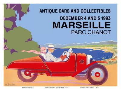 Marseille, France - Antique Cars and Collectibles - Le Parc Chanot Center - Cyclecar Morgan-L?o Bouillon-Art Print
