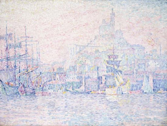 Marseille, La Bonne Mere, Morning Mist, 1907-Paul Signac-Giclee Print