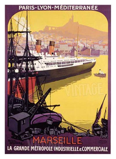Marseille, Metropole Industrielle-Roger Broders-Giclee Print