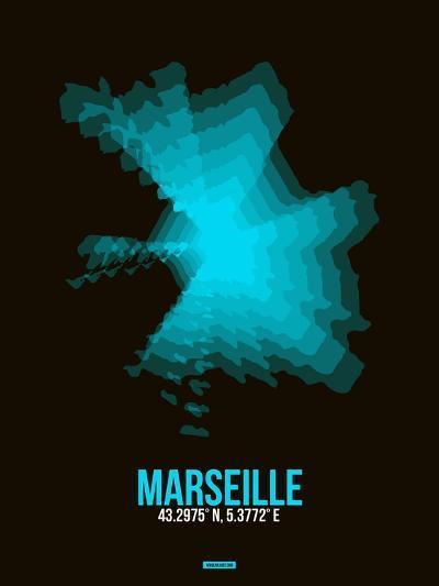 Marseille Radiant Map 2-NaxArt-Art Print