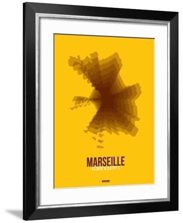 Marseille Radiant Map 3-NaxArt-Framed Art Print