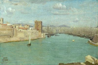 Marseille: the Old Port, 1843-Jean-Baptiste-Camille Corot-Giclee Print