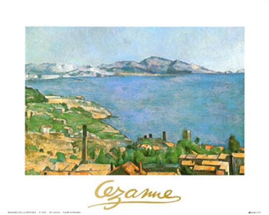 Marseilles Bay-Paul C?zanne-Art Print