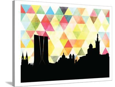 Marseilles Triangle-Paperfinch 0-Stretched Canvas Print