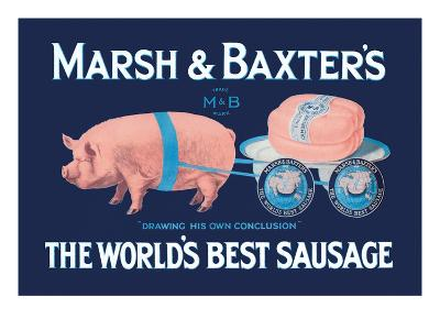 Marsh and Baxter's World's Best Sausage-Simon-Art Print