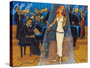 Jazz Orchestra in Blue by Marsha Hammel