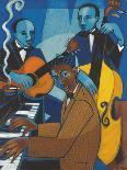 The Diva and her Horn Section-Marsha Hammel-Art Print