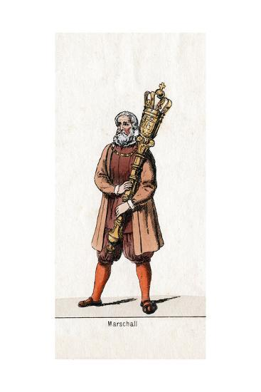 Marshal Costume Design for Shakespeare's Play, Henry VIII, 19th Century--Giclee Print