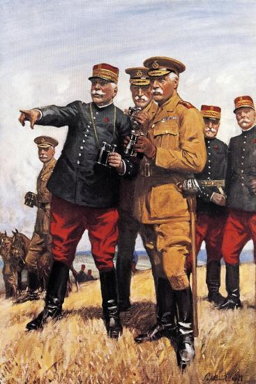 Marshal Joffre and His Chiefs of Staff--Giclee Print