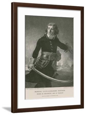 Marshal Louis-Alexandre Berthier--Framed Giclee Print