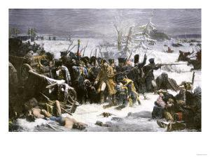 Marshal Ney Bringing the French Rear-Guard Out of Russia with Heavy Losses, c.1812