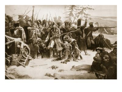 Marshal Ney Supporting the French Rearguard-Adolphe Yvon-Giclee Print