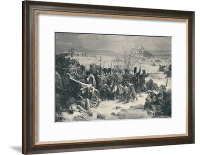 'Marshal Ney Sustaining The Rear-Guard of the Grand Army', 1812, (1896)-Henry Wolf-Framed Giclee Print