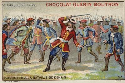 Marshal Villars Winning the Battle of Denain--Giclee Print