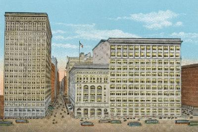 Marshall Field and Company, Retail Stores, Wabash and Washington--Photographic Print