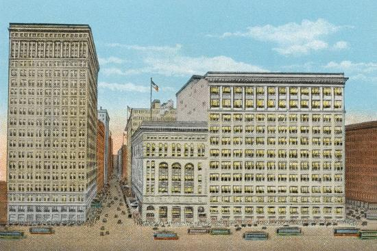 Marshall Field and Company, Retail Stores, Wabash and Washington--Photographic Print