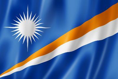 Marshall Islands Flag-daboost-Art Print