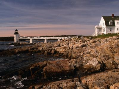 Marshall Point Lighthouse and House on Port Clyde, Maine, USA-Stephen Saks-Photographic Print