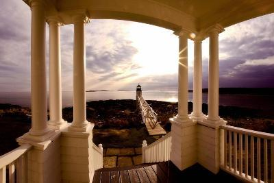 Marshall Point Sunset Viewed from a Balcony-George Oze-Photographic Print