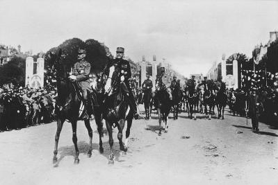 Marshals Foch and Joffre During the Grand Victory Parade, Paris, France, 14 July 1919--Giclee Print
