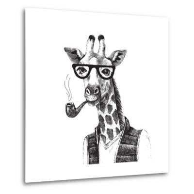 Illustration of Dressed up Giraffe Hipster