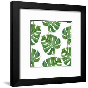 Watercolor Monstera Leaf Pattern by mart_m