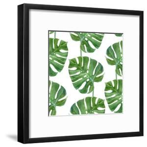 Watercolor Monstera Leaf Pattern by mart_m