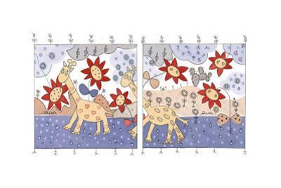 Giraffes I by Marta Arnau