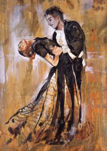 Dancing Couple V by Marta Gottfried