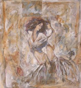 Dancing Gypsy Girls by Marta Gottfried