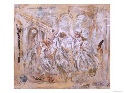 One Man Dancing with Five Women