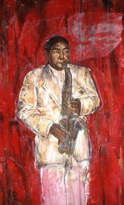 Sax Player by Marta Gottfried