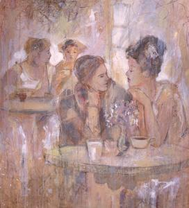 Untitled Women in a Cafe by Marta Gottfried