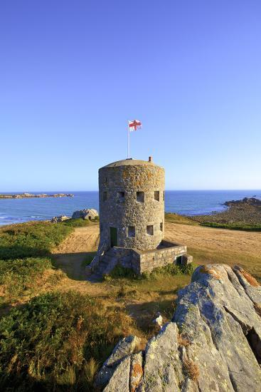 Martello Tower No 5, L'Ancresse Bay, Guernsey, Channel Islands-Neil Farrin-Photographic Print