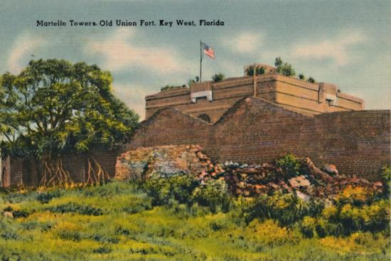 'Martello Towers Old Union Fort, Key West, Florida', c1940s-Unknown-Giclee Print