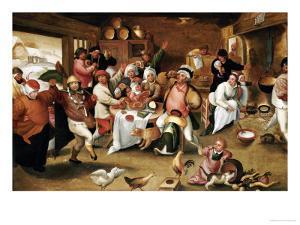 The King Drinks by Marten Van Cleve