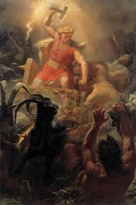 Tor's Fight with the Giants by Marten Winge