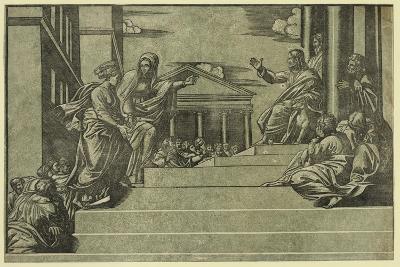 Martha and Mary Magdalene before Christ--Giclee Print
