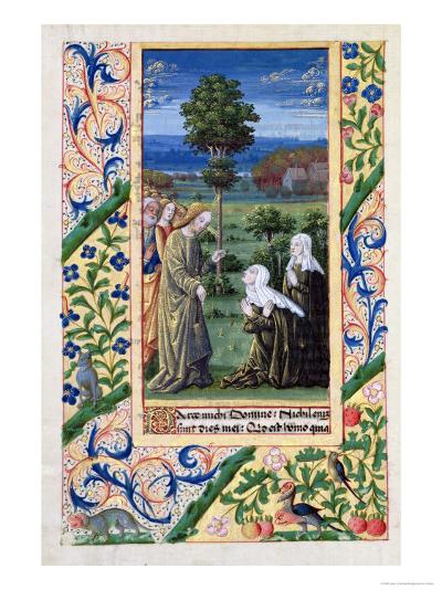 Martha and Mary Telling Jesus of the Death of Lazarus, Book of Hours of Louis D'Orleans, 1469-Jean Colombe-Giclee Print