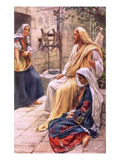 Martha and Mary-Harold Copping-Giclee Print
