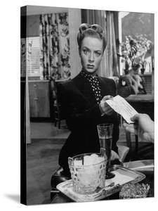 """Actress Audrey Totter in Scene from Film """"Lady in the Lake"""" by Martha Holmes"""