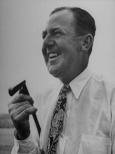Bobby Locke Laughing During His Golf Game by Martha Holmes