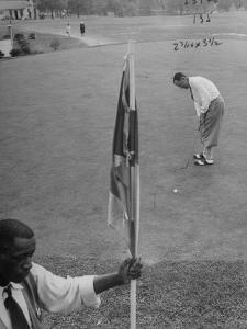Bobby Locke Playing Golf by Martha Holmes